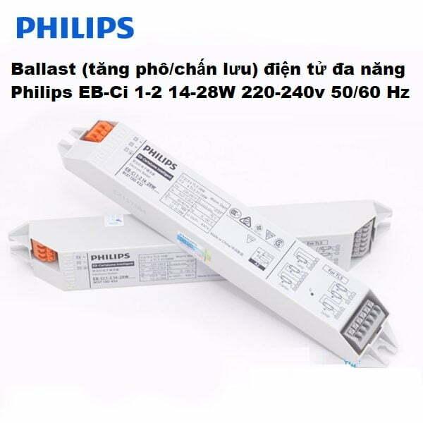 ballast tang pho chan luu dien tu t5 1m2 philips eb c 128