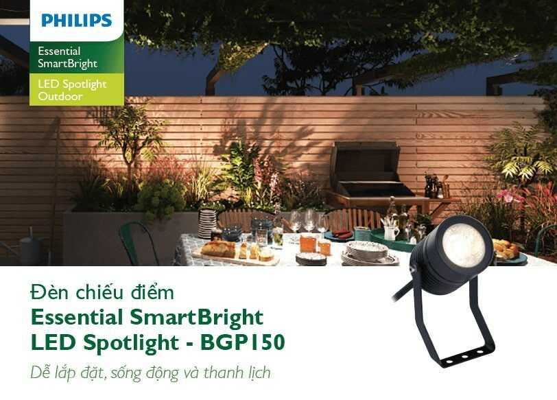 bgp150 den led philips chieu sang canh quan ess smartbright spotlight bgp150 led g 8w 45d gm 1 1