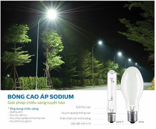 bóng đèn cao áp philips sodium