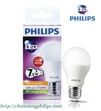 Bóng đèn led bulb Philips 7 5w