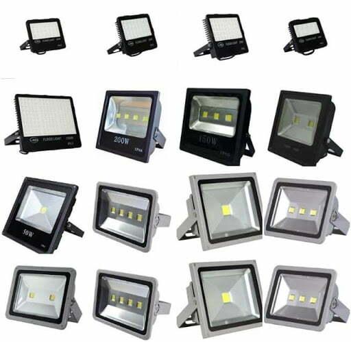các loại đèn led pha chiếu sáng bảng hiệu