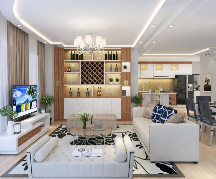 Đèn Led downlight âm trần thạch cao Philips cho ứng dụng phòng khách