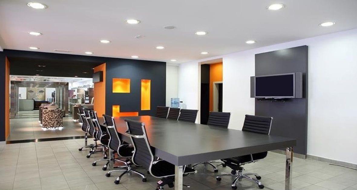 cách bố trí đèn âm trần cho văn phòng hợp lý
