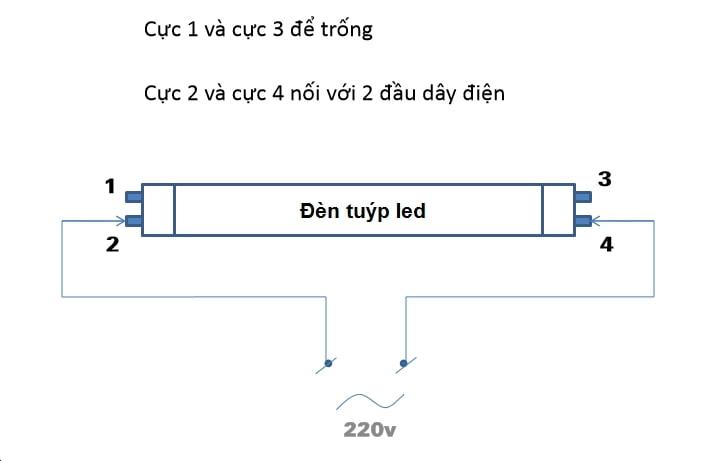 cách lắp đèn tuýp led 1m2