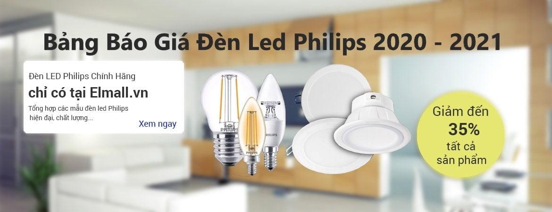 bảng giá bóng đèn led catalog philips 2021
