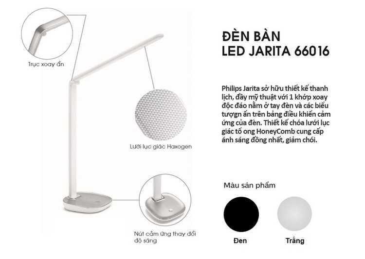 den ban Led Philips 66016 Jabiru table lamp LED black 1x4.5W 07