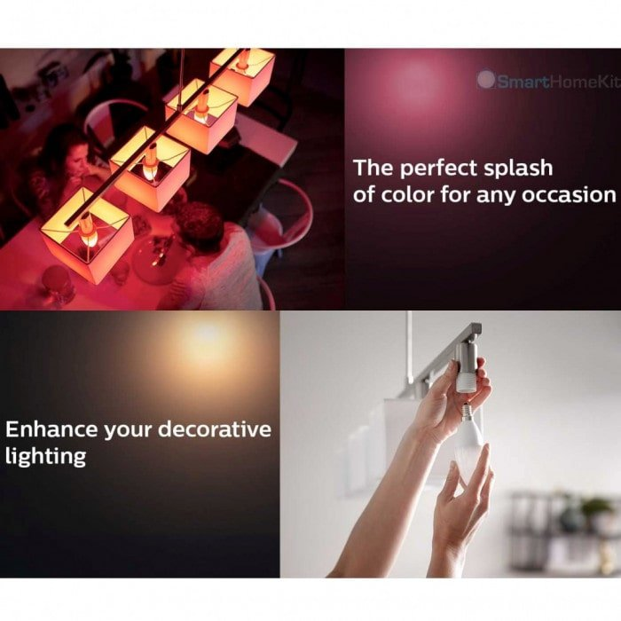 den dimmer philips hue white and color ambiance candle e14 6.5w