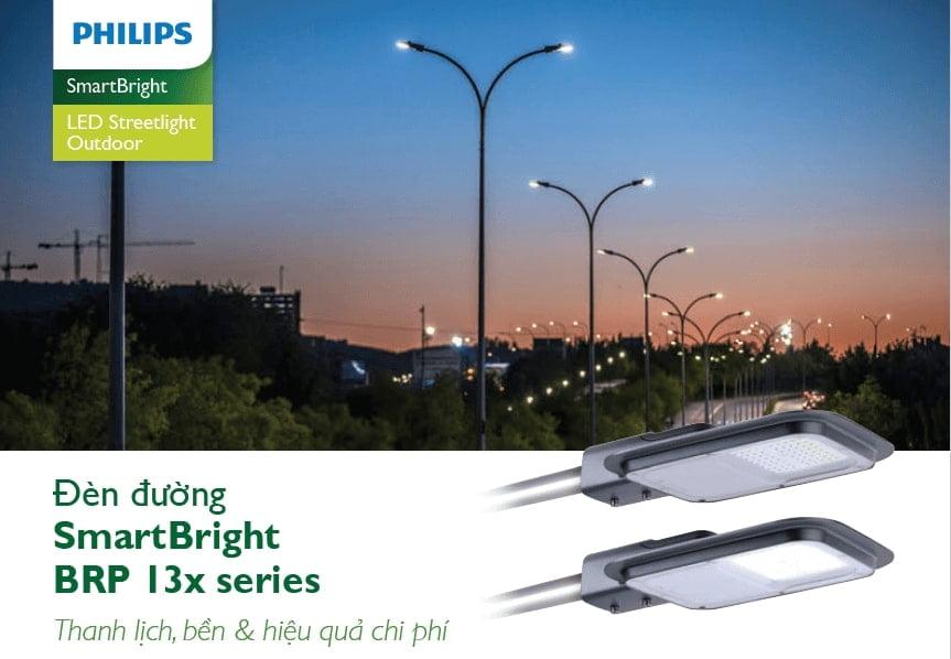 den duong led philips street lighting smartbright brp130 led70 nw 70w 220 240v dm gm