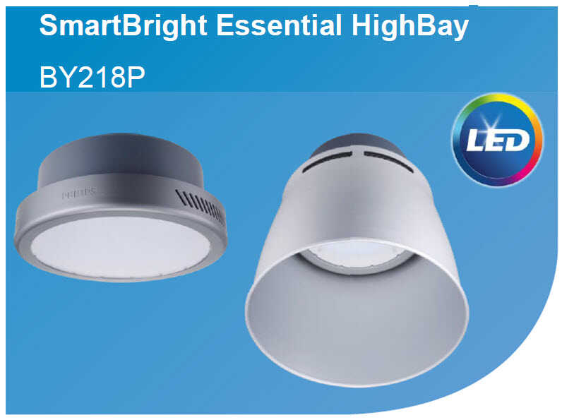 den highbay led philips smartbright by218p led180 cw psu 200w chieu sang nha xuong