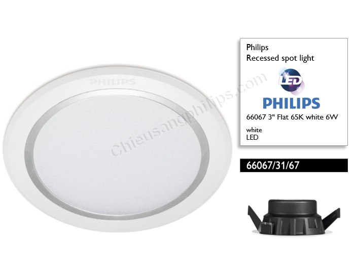 Đèn led âm trần 6W 66067 Recessed Philips