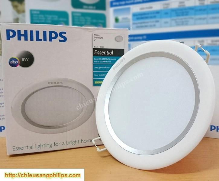 Đèn led âm trần 8W 80083 Philips Essential 4000K