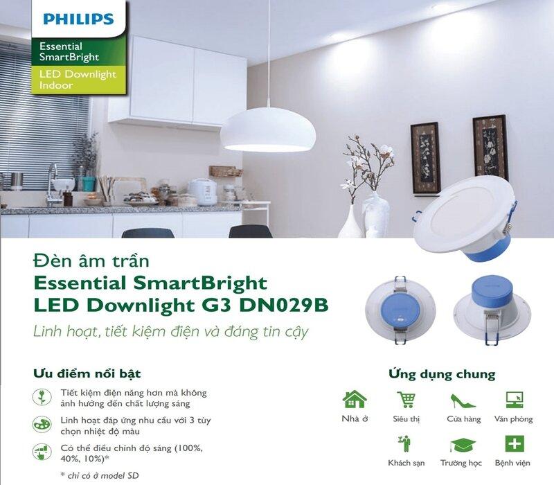 Đèn led âm trần Essential SmartBright DN029B NW PSR E Philips 1 min (1)