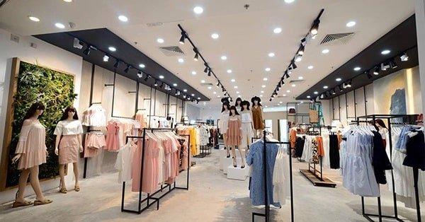 đèn led âm trần thạch cao cho shop thời trang