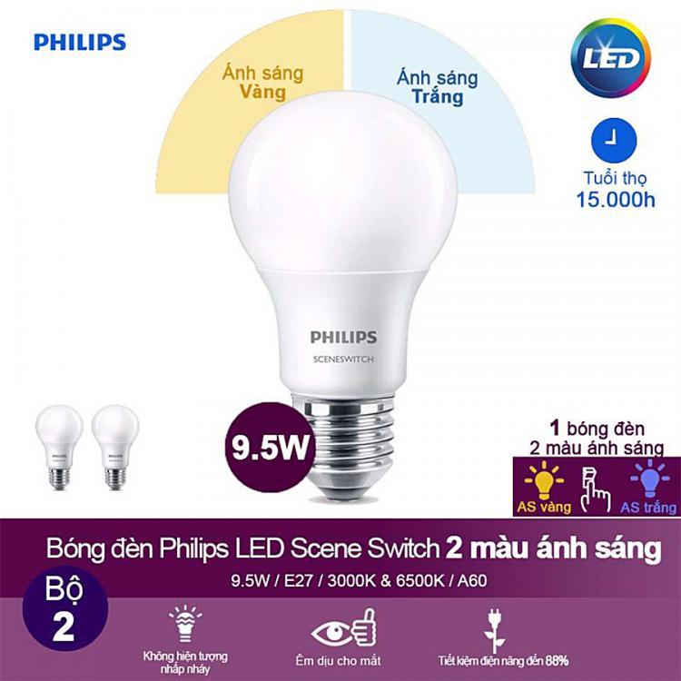 Bóng đèn Led bulb Philips với 2 màu sắc ánh sáng