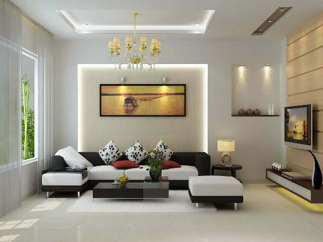 Đèn led trang trí phòng khách gia đình