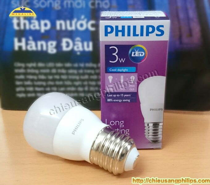 Đèn led mini búp 3W Philips 6500K