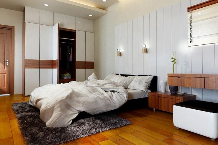 cách bố trí đèn trong phòng ngủ
