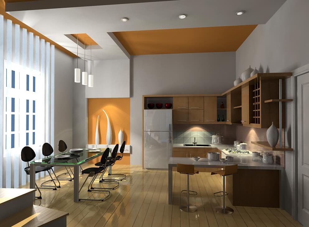 Cách bố trí đèn led âm trần cho phòng bếp hiệu quả nhất