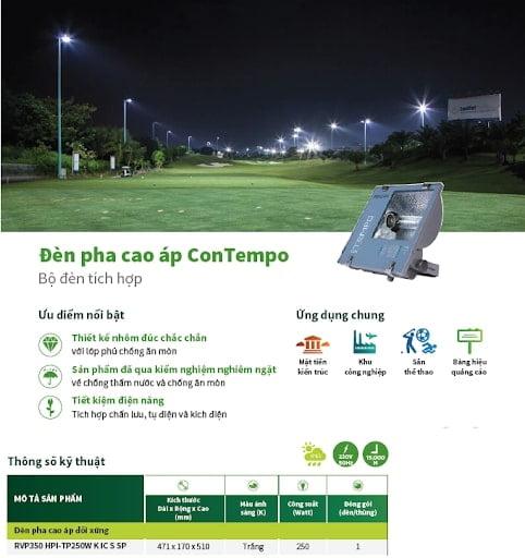 Đèn pha cao áp RVP350 HPI TP250W Philips