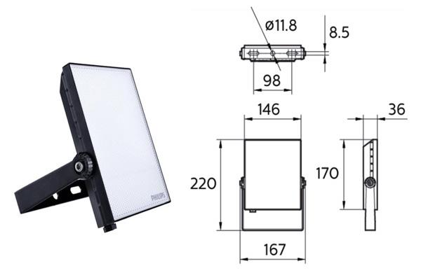 Den pha led 10W LED24 Philips1