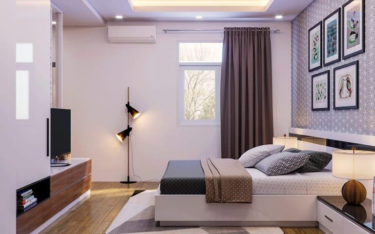 đèn tuýp led trang trí phòng ngủ