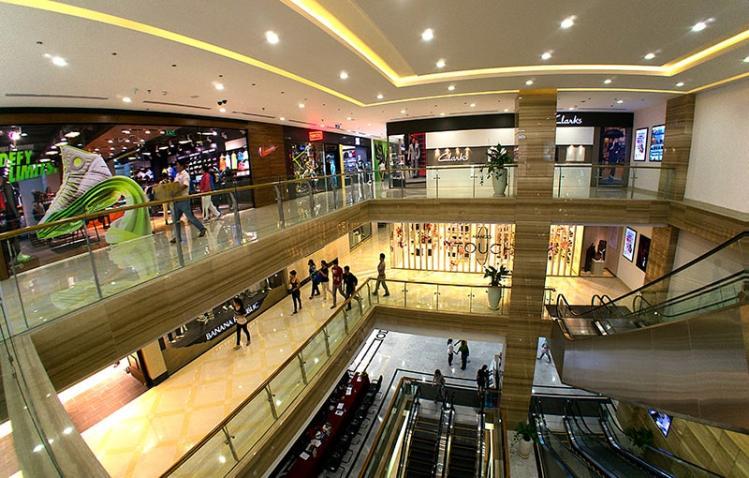 hệ thống chiếu sáng trung tâm mua sắm siêu thị philips