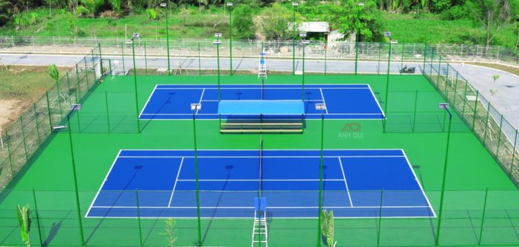 quy chuẩn và thiết kế đèn pha led sân tennis