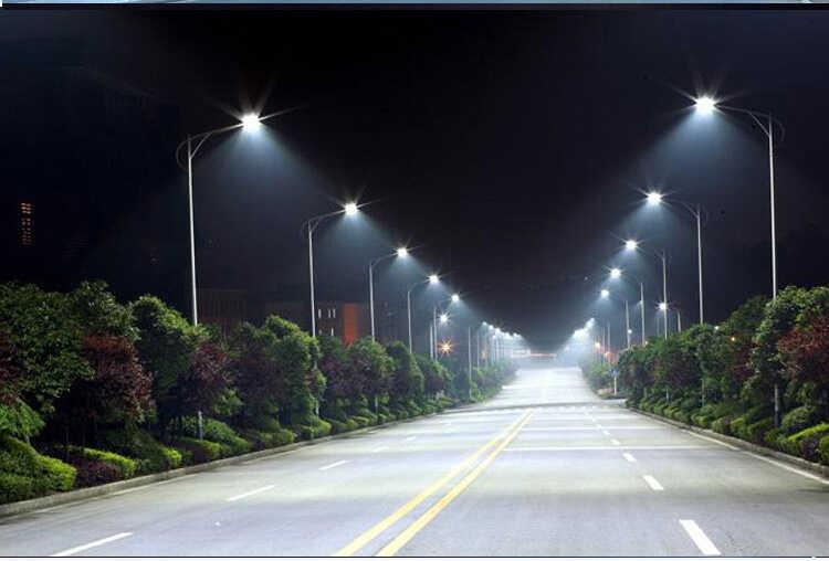 Lắp đèn đường led đối diện 2 bên đường