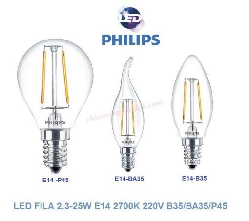 led fila 2.3 25w e27 2700k 220v b35ba35p45