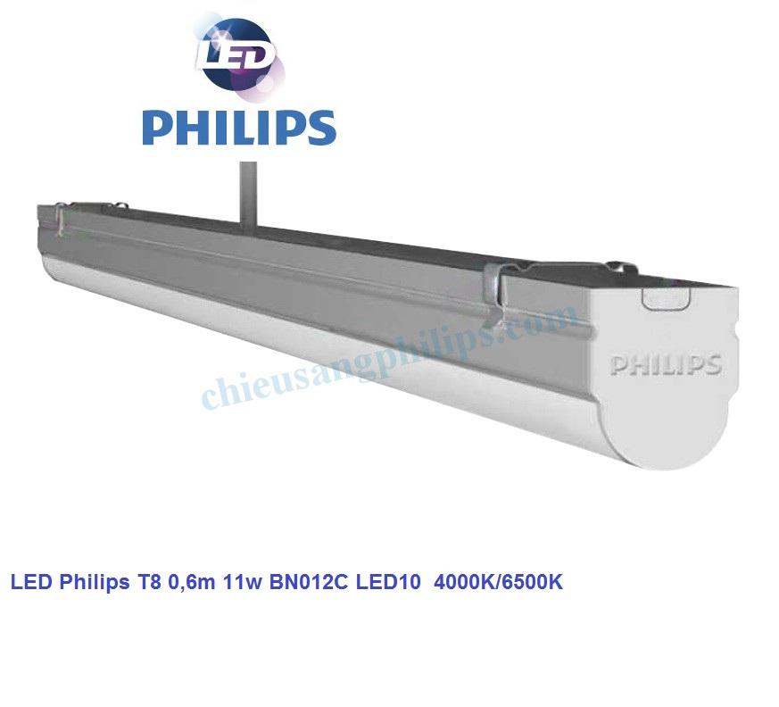 Máng LED T8 0,6m 11w BN012C