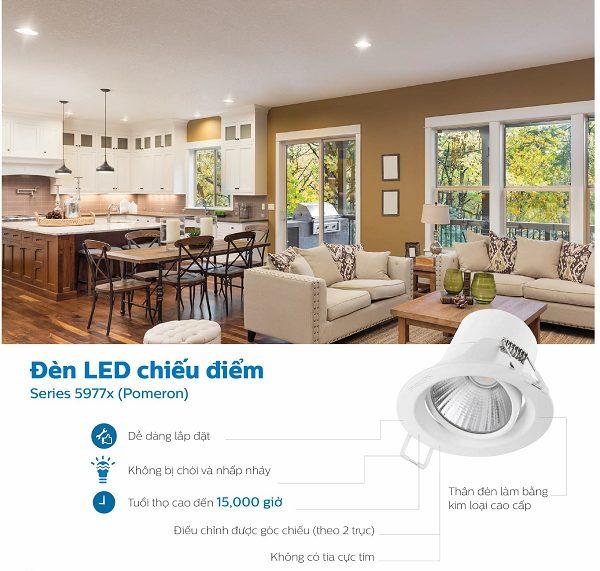 Đèn LED chiếu điểm spotlight Philips