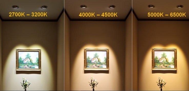 Nhiet do mau 3000K 4000K 6500K