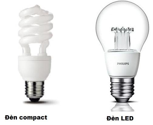 so sánh đèn compact và đèn led philips