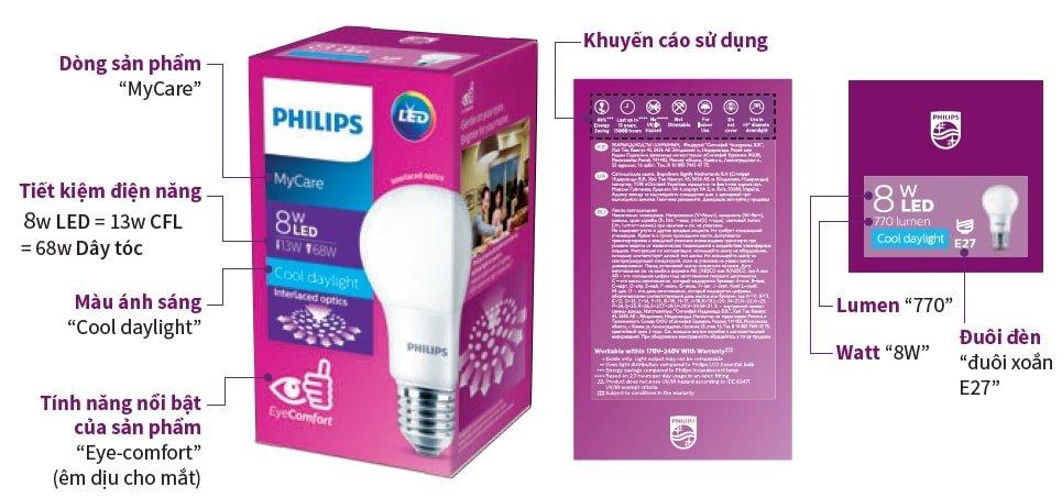 đèn Led bulb My Care 12w Philips