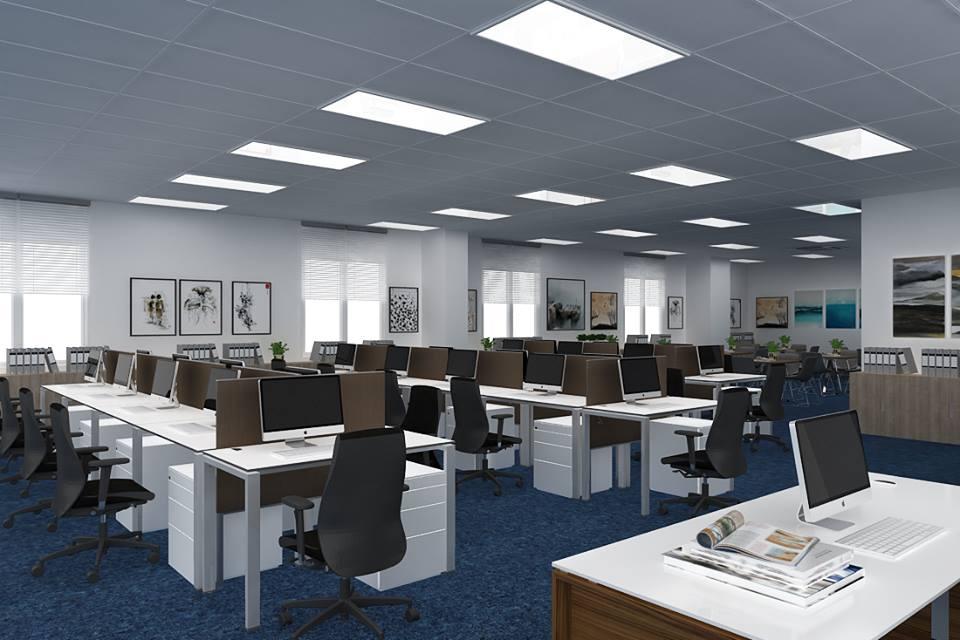 mô hình thiết kế chiếu sáng văn phòng
