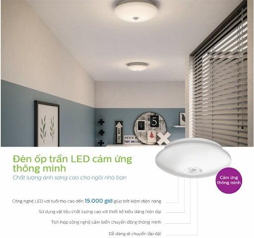 ứng dụng của đèn led ốp trần philips